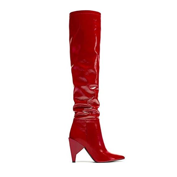 Zara botas rojas