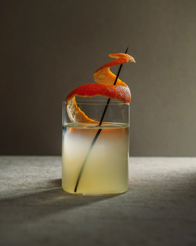 Caipiroska de mandarina y jengibre